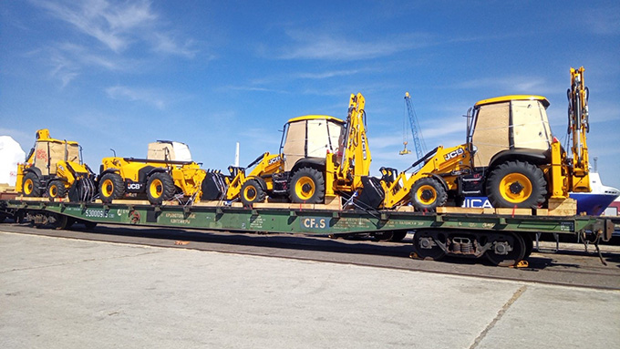 A picture containing sky, outdoor, transport, power shovel  Description automatically generated
