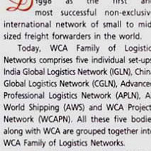 WCA taking global cargo<br>partnering to new heights<br>Cargo